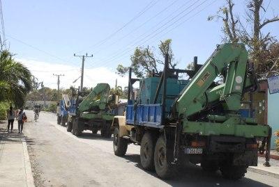 solidaridad entre los cubanos significan las fuerzas y medios de otros territorios incorporados a la recuperación.